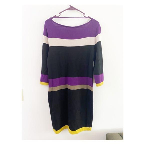 Jones Wear Dresses & Skirts - Jones Wear Colorblock Striped Sweater Dress Small